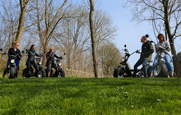 2 of 4 uur durende E-Chopper tocht door de Betuwe