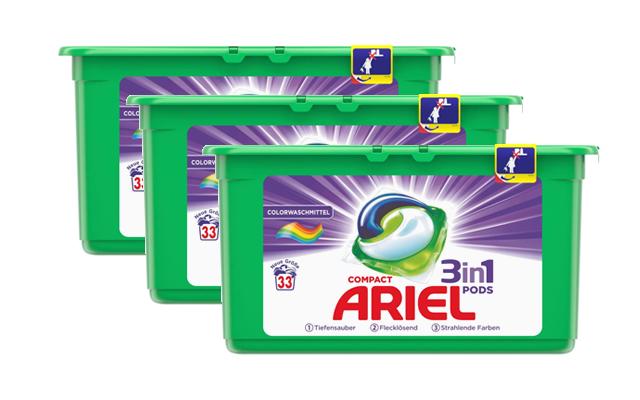 Korting Ariel 3in1 pods Compact Color 99 of 198 stuks