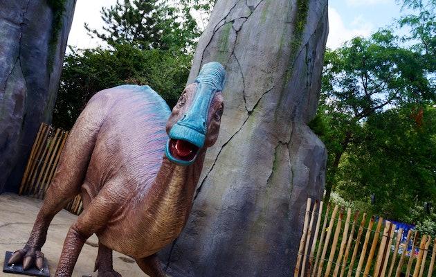 Attractions spectaculaires à parc Plopsaland de Panne
