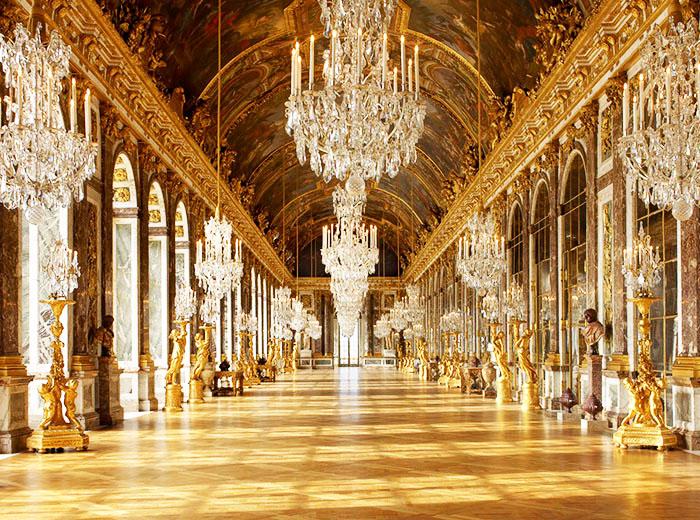 Bewonder 17e eeuwse kunst bij Ch�teau de Versailles nabij Parijs