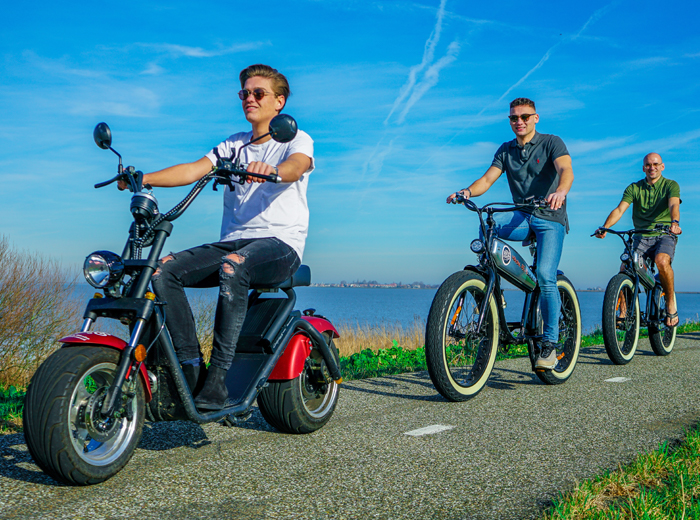 Korting Verken Volendam op een e scooter!