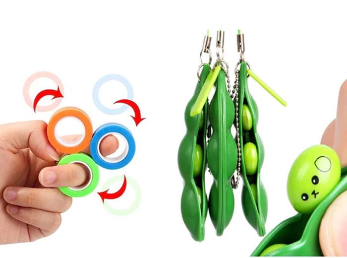 Korting Fidget Toys Pea Poppers en magnetische ringen