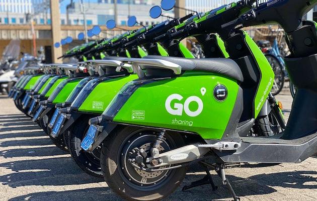 50 minuten scooter rijden via GO Sharing