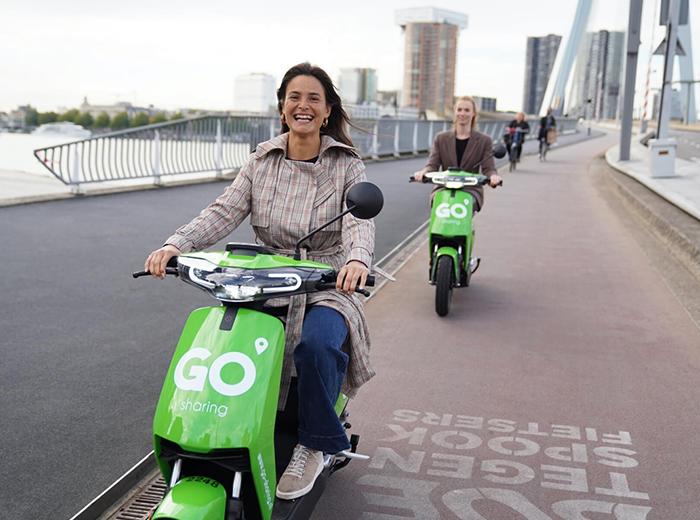 Korting 50 minuten scooter rijden via GO sharing