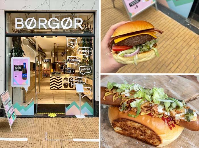 Hotdog of burger menu van BØRGØR in Groningen Arnhem...