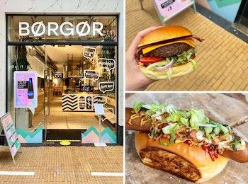 Hotdog of burger menu van BØRGØR in Groningen