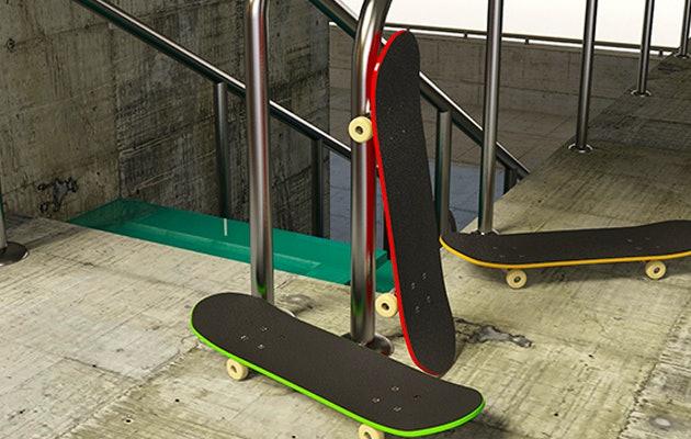 Entree voor het nieuwe indoor skatepark Het GroenOord Work & Play!