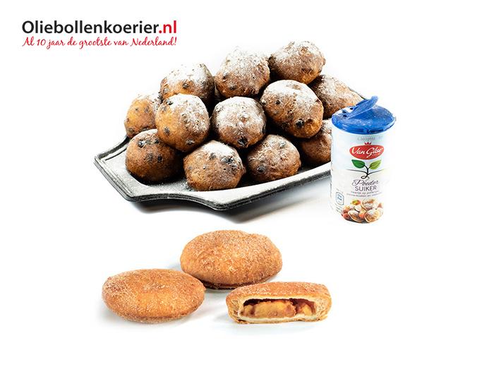 Korting Oliebollen en appelbeignets van de Oliebollenkoerier.nl