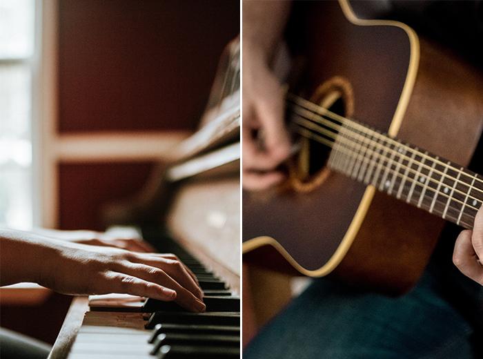 Korting Online Muziek Cursus voor gitaar, piano of zang