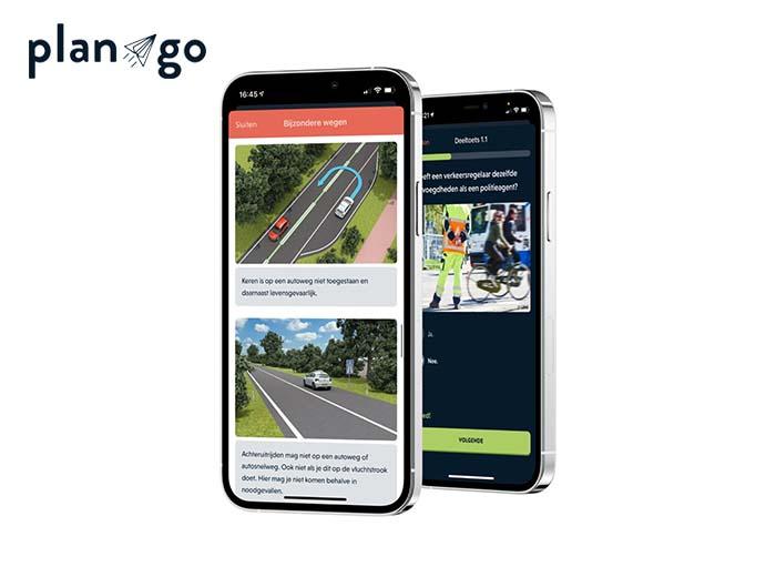 Online Theorie leren via de planGo app
