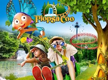 Avontuurlijke attracties in een natuurdecor bij Plopsa Coo
