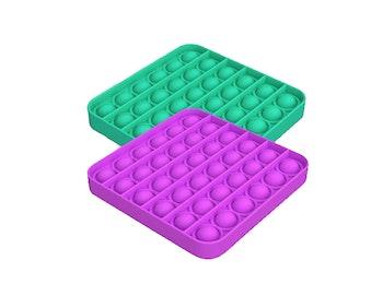 Pop It Fidget vierkant - 2 stuks