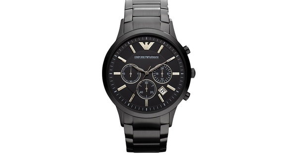 580ad30d33e Zwart Armani Horloge - AR2453 met korting? - Tripper.nl