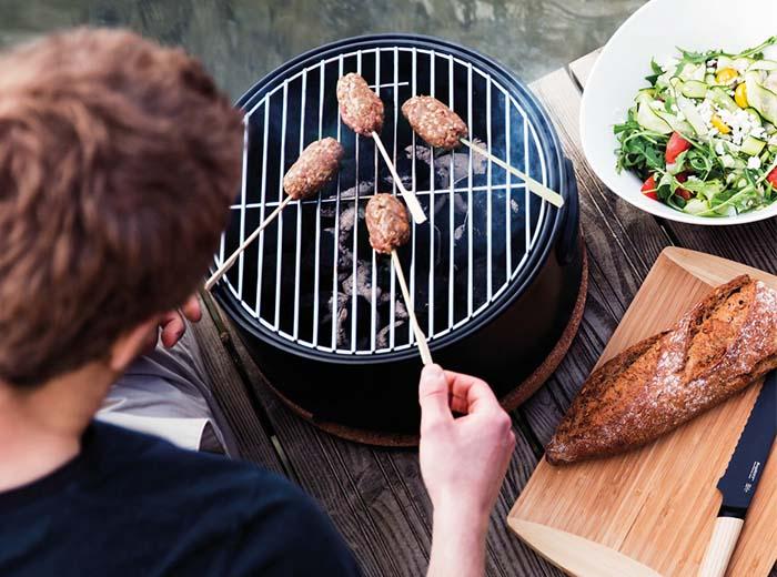 Korting Houtskool tafelbarbecue van Berghoff