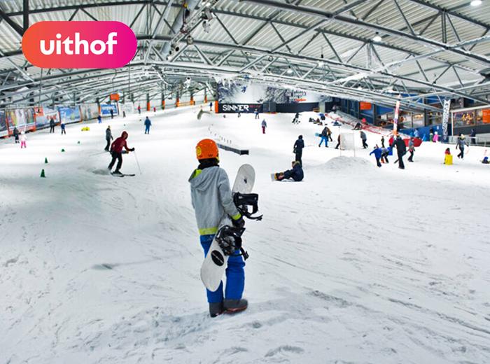 Korting Skiën of snowboarden op de sneeuwbaan van De Uithof