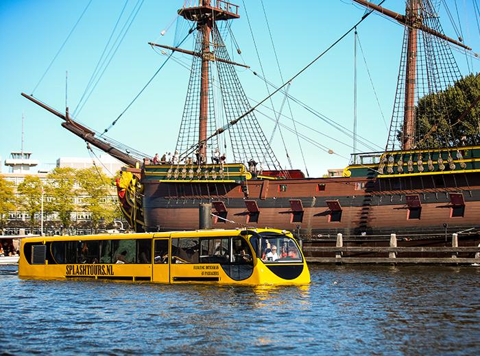 Korting Maak een spectaculaire stadstour met Splashtours Amsterdam!