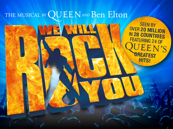 Korting Ticket voor de spectaculaire musical We Will Rock You! Den haag