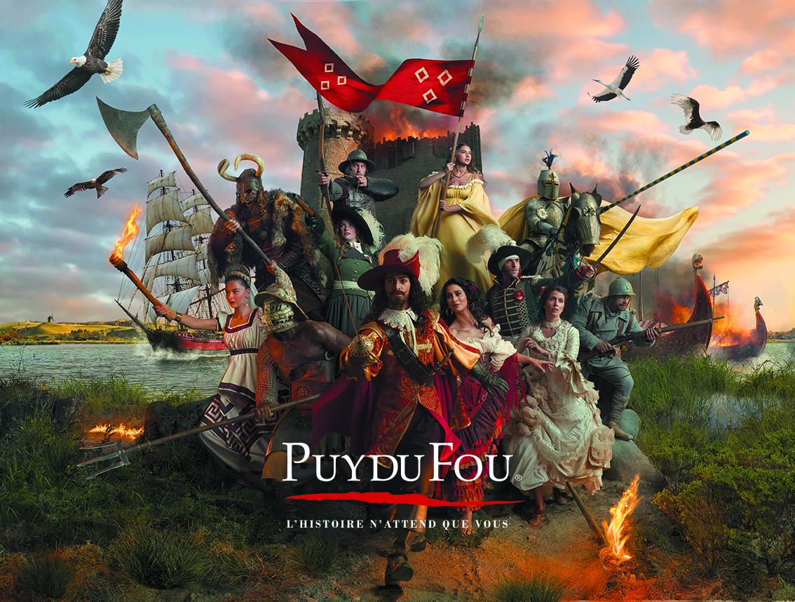 Maak een reis door de tijd in het grandioze themapark Puy Du Fou