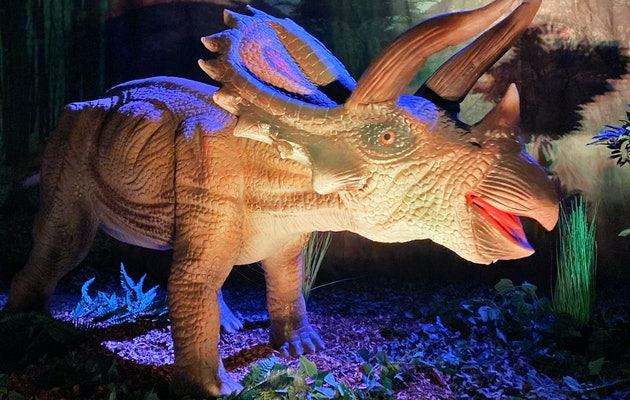 Oog in oog met brullende Dino's bij World of Dinos in de Jaarbeurs