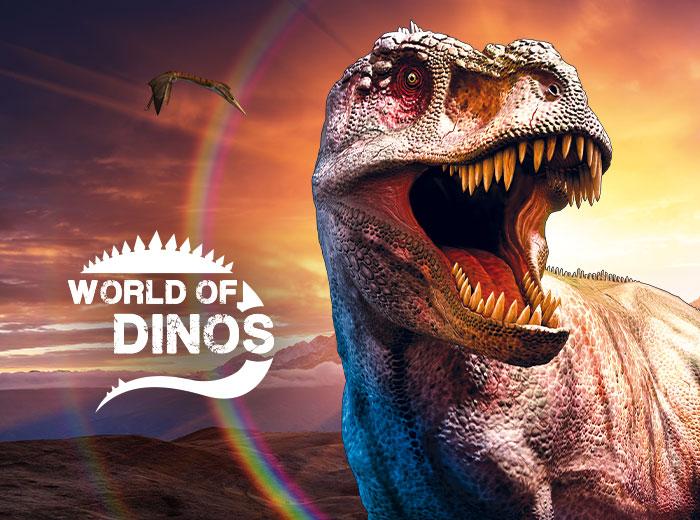 Korting Oog in oog met brullende Dino's bij World of Dinos in de Jaarbeurs Utrecht