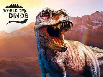 Oog in oog met brullende Dino's bij World of Dinos in de Jaarbeurs