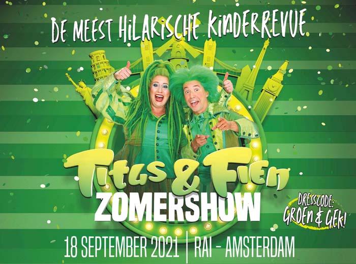 Titus en Fien Zomershow op 18 september in RAI Amsterdam...