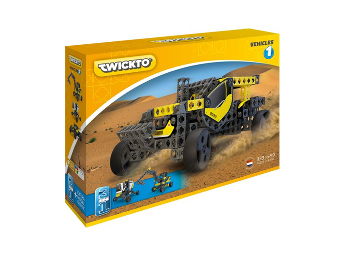 Korting Bouw stoere voertuigen met het Twickto Vehicles 1 bouwpakket